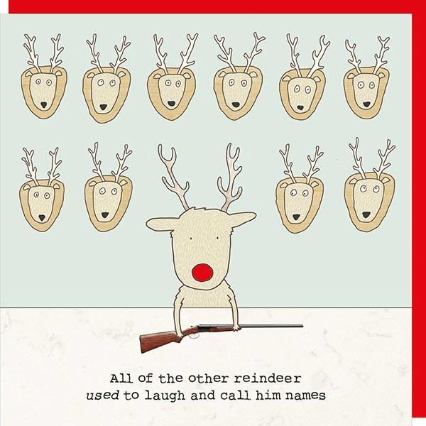 Reindeer Christmas Cards.All The Other Reindeer Christmas Card